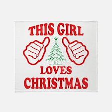 THIS GIRL LOVES CHRISTMAS Throw Blanket