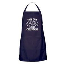 THIS GUY LOVES CHRISTMAS Apron (dark)
