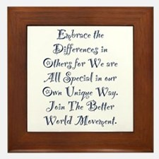 Embrace the Differences Framed Tile