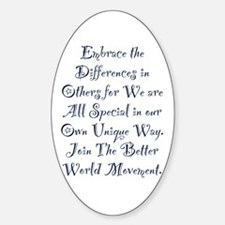 Embrace the Differences Decal