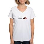 Donut Goddess Women's V-Neck T-Shirt