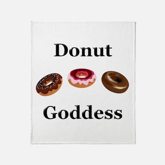 Donut Goddess Throw Blanket