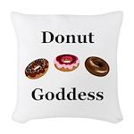 Donut Goddess Woven Throw Pillow