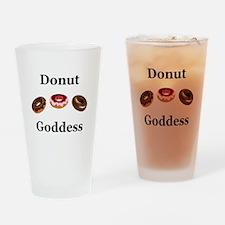 Donut Goddess Drinking Glass