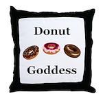 Donut Goddess Throw Pillow