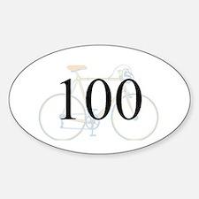 Cute 100 mile ride Sticker (Oval 10 pk)