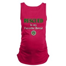 Rescued is my Favorite Breed Maternity Tank Top