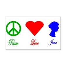 Cute Peace love pride Rectangle Car Magnet