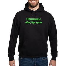Hei Hu Men Black Hoodie