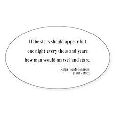 Ralph Waldo Emerson 5 Oval Decal