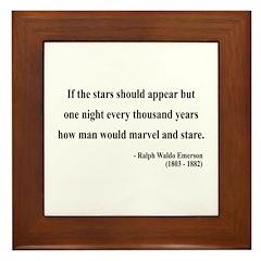Ralph Waldo Emerson 5 Framed Tile