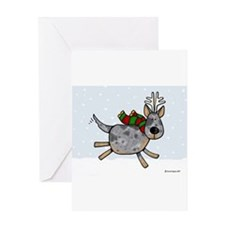 Cute Australian cattle dog christmas Greeting Card