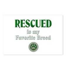 Rescued is my Favorite Br Postcards (Package of 8)