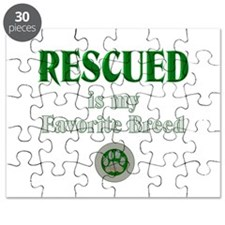 Rescued is my Favorite Breed Puzzle