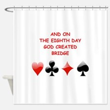 Cute Bridge game Shower Curtain