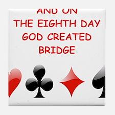 Cute Bridge game Tile Coaster