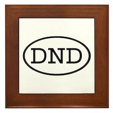 DND Oval Framed Tile
