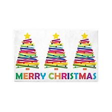 Colorful Christmas Tree Area Rug