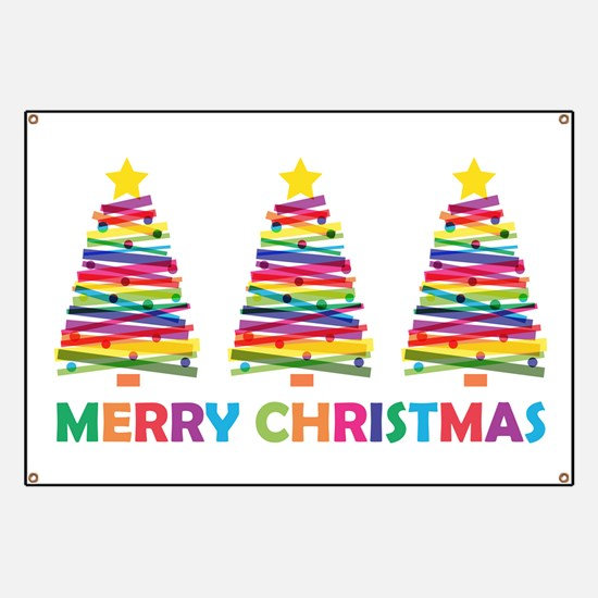 Colorful Christmas Tree Banner