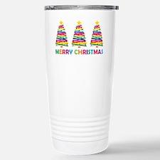Colorful Christmas Tree Travel Mug