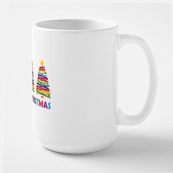 Colorful Christmas Tree Large Mug