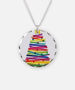 Colorful Christmas Tree Necklace