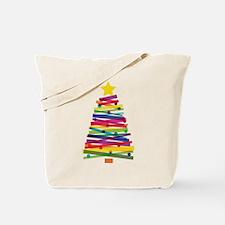 Colorful Christmas Tree Tote Bag