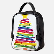 Colorful Christmas Tree Neoprene Lunch Bag