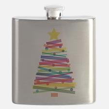 Colorful Christmas Tree Flask