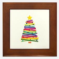Colorful Christmas Tree Framed Tile