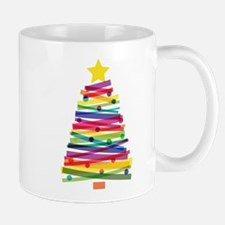 Colorful Christmas Tree Mugs
