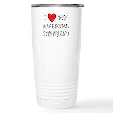 I Love My Awesome Boyfriend Travel Mug