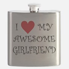 I Love My Awesome Girlfriend Flask