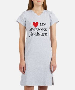 I Love My Awesome Husband Women's Nightshirt
