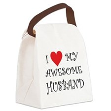 I Love My Awesome Husband Canvas Lunch Bag