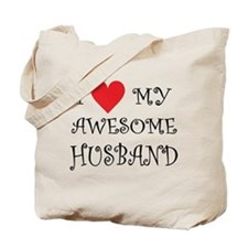 I Love My Awesome Husband Tote Bag