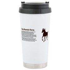 Funny Rocky mountain horse Travel Mug