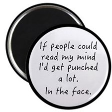 Punched In The Face A Lot Magnet