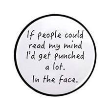 """Punched In The Face A Lot 3.5"""" Button"""