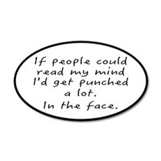 Punched In The Face A Lot 20x12 Oval Wall Decal