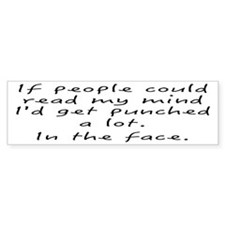 Punched In The Face A Lot Bumper Sticker