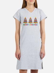 Colorful Christmas Tree Women's Nightshirt