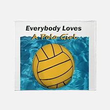 Everybody Loves a Polo Girl Throw Blanket