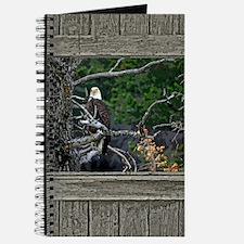 Old Cabin Window Bald Eagle Journal