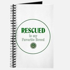 Rescued is my Favorite Breed Journal