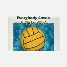 Everybody Loves a Polo Girl Magnets