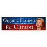 Organic Farmers For Clinton Bumper Sticker
