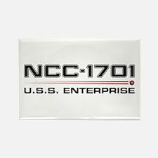 USS Enterprise Refit Dark Rectangle Magnet