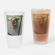 Olive the Yoda Pig Drinking Glass