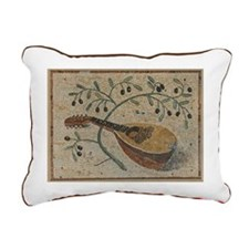 Olives And Strings Rectangular Canvas Pillow